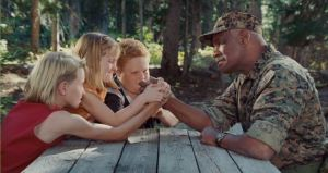 No montage is complete without an arm wrestling match with an army soldier.
